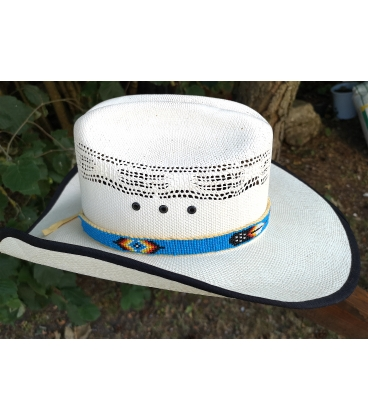 tour de chapeau perlé
