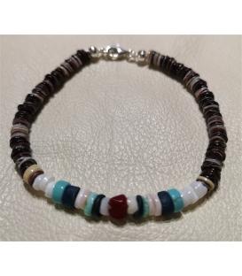 Bracelet en perles de coquillages