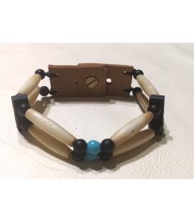Bracelet os et perles