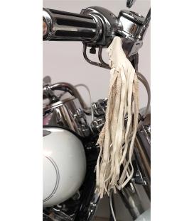 Franges en cuir pour levier moto