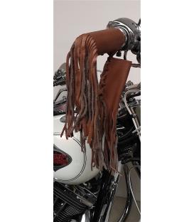 Franges cuir pour poignee moto