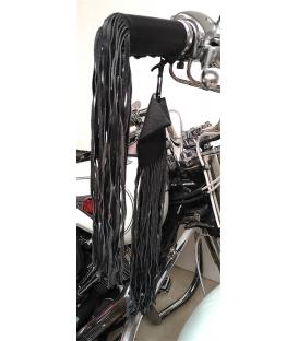 Franges longues en cuir pour poignee moto