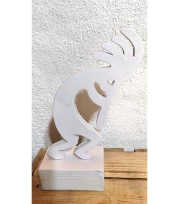 Kokopelli en bois blanc