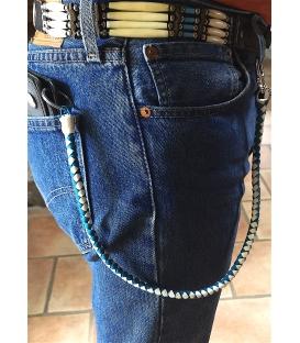 Lacet cuir pour portefeuille moto