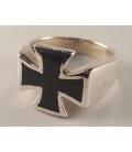Bague Croix de Malte Noire