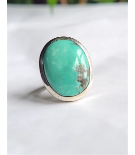 Bague ovale turquoise clair