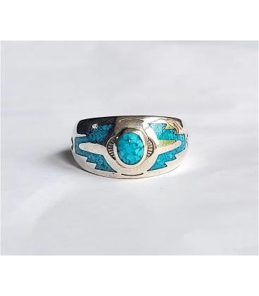 Bague anneau turquoise