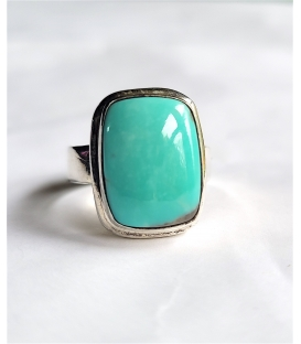Bague turquoise rectangle