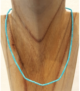Collier fin multi turquoises