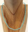 Collier fin multi turquoises