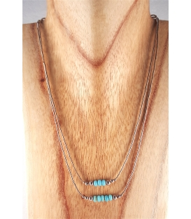 Collier double fils