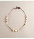 Bracelet argent et perles