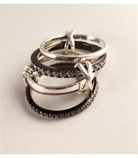 Bague 4 anneaux en argent