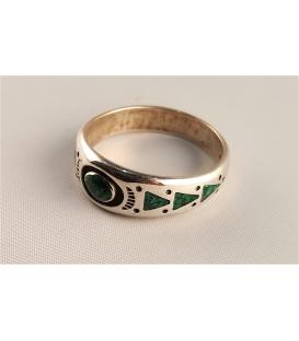 Bague anneau en malachite