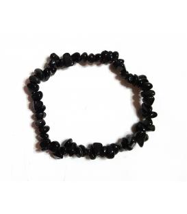 Bracelet en pierres d'obsidienne